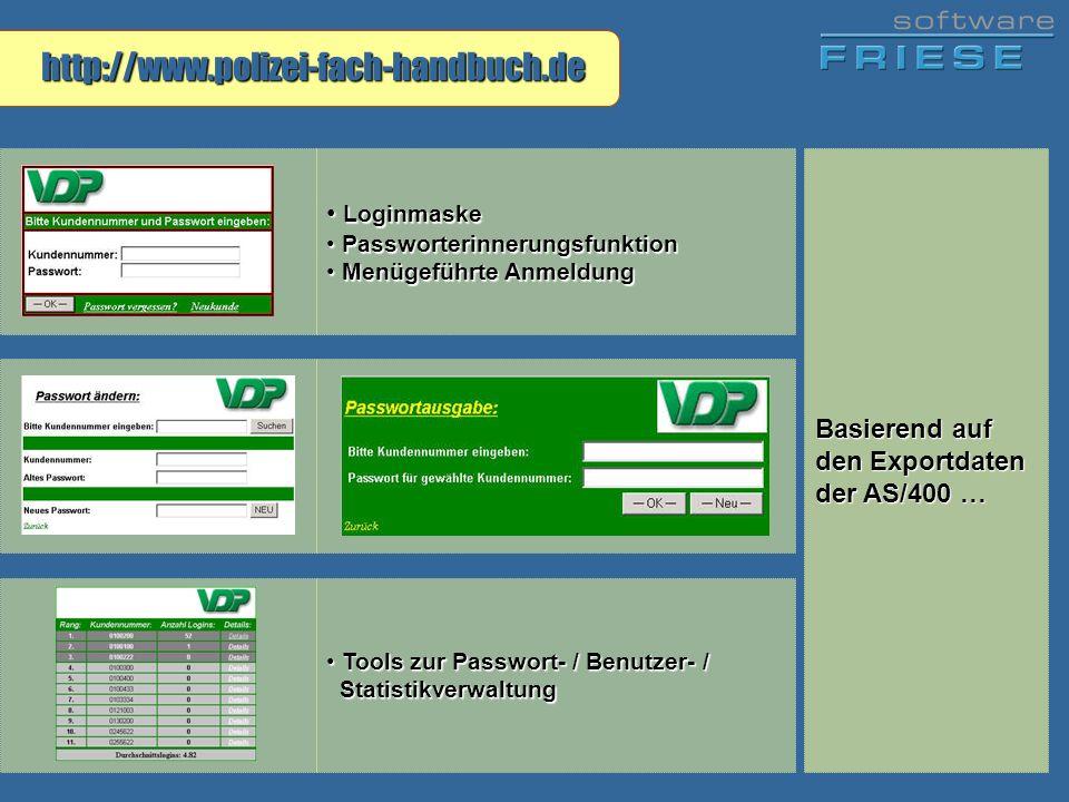 http://www.polizei-fach-handbuch.de Loginmaske