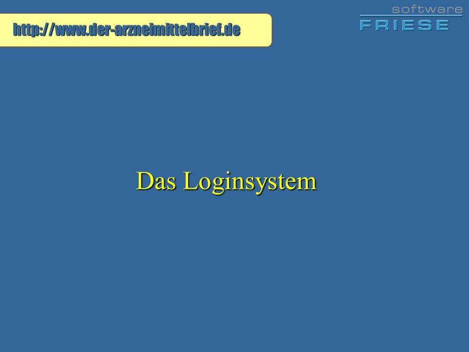 http://www.der-arzneimittelbrief.de Das Loginsystem