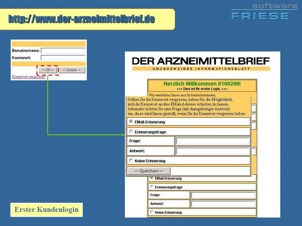 http://www.der-arzneimittelbrief.de Erster Kundenlogin