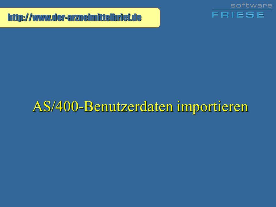 AS/400-Benutzerdaten importieren