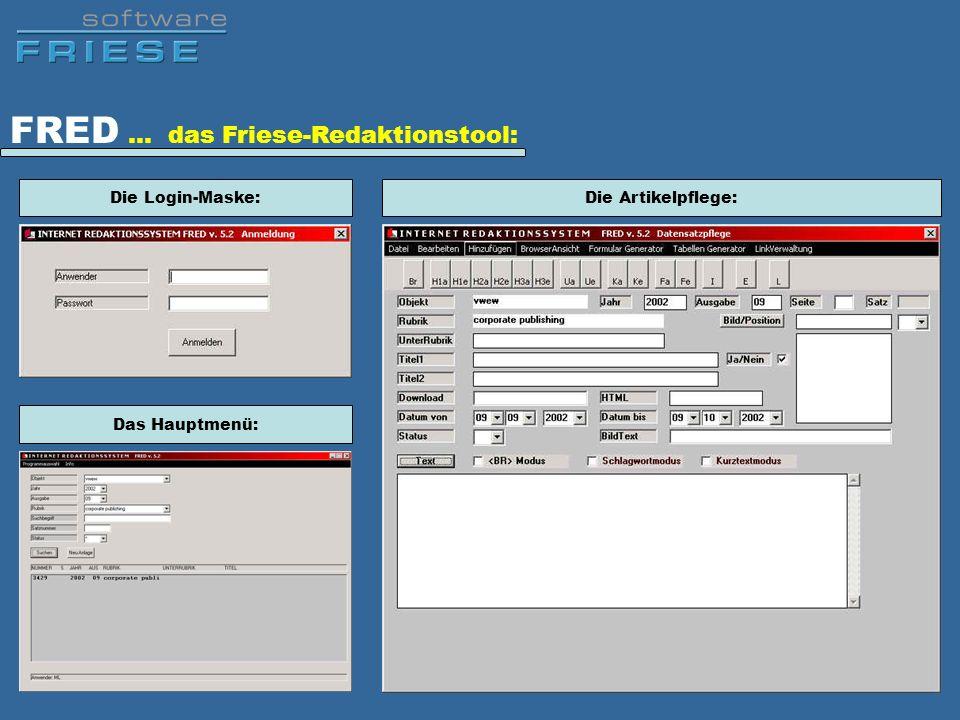 FRED … das Friese-Redaktionstool:
