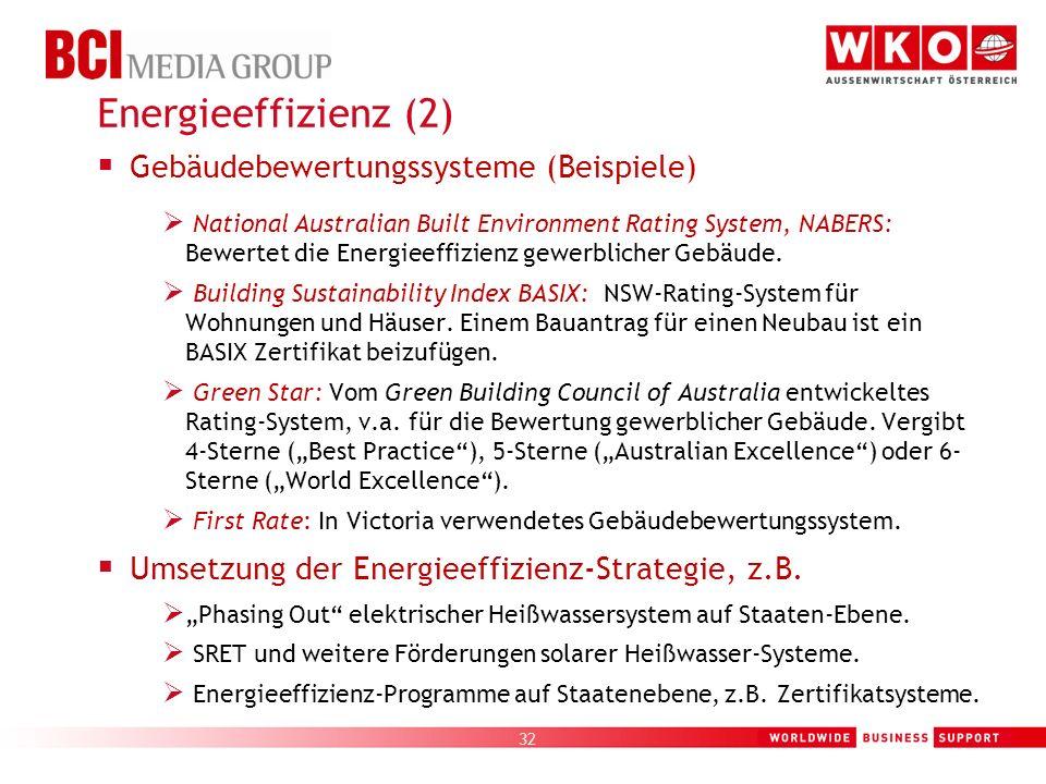 Energieeffizienz (2) Gebäudebewertungssysteme (Beispiele)