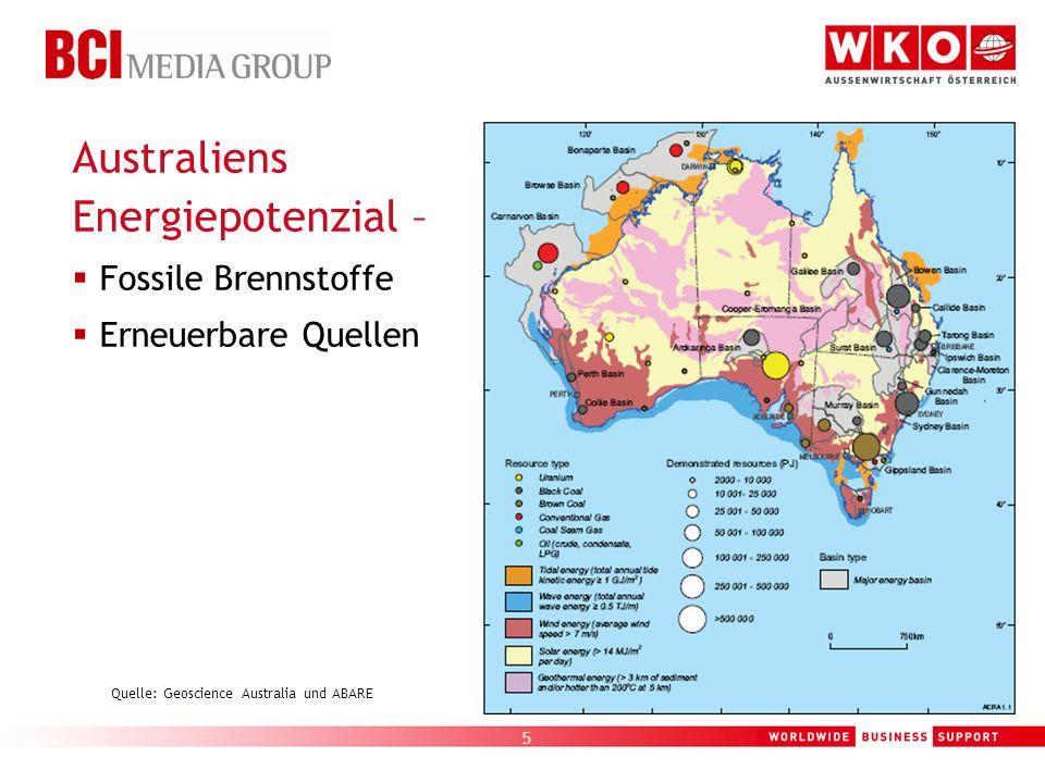 Quelle: Geoscience Australia und ABARE