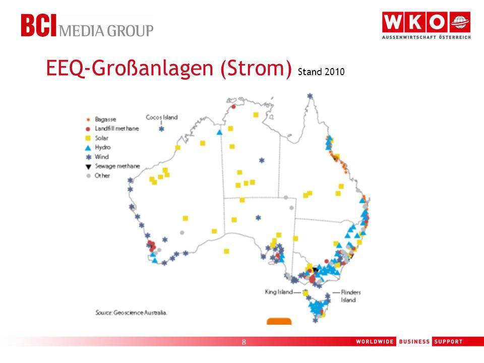 EEQ-Großanlagen (Strom) Stand 2010