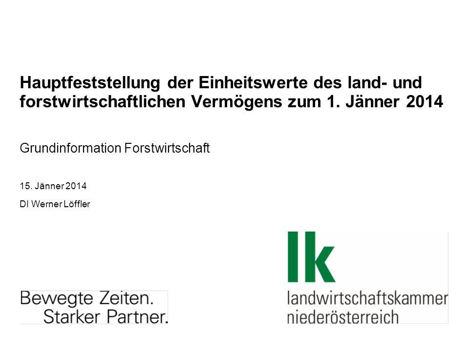 Grundinformation Forstwirtschaft 15. Jänner 2014 DI Werner Löffler