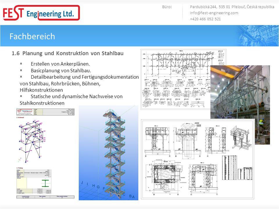 Fachbereich 1.6 Planung und Konstruktion von Stahlbau