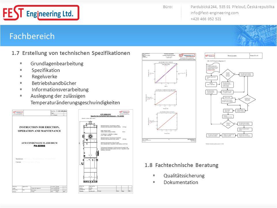 Fachbereich 1.7 Erstellung von technischen Spezifikationen