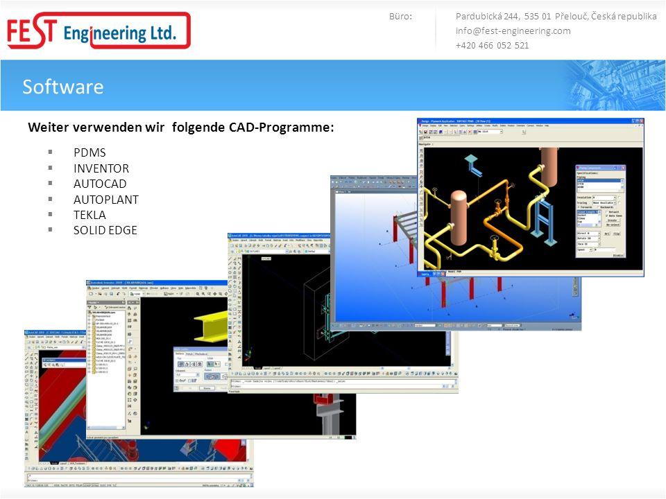 Software Weiter verwenden wir folgende CAD-Programme: PDMS INVENTOR