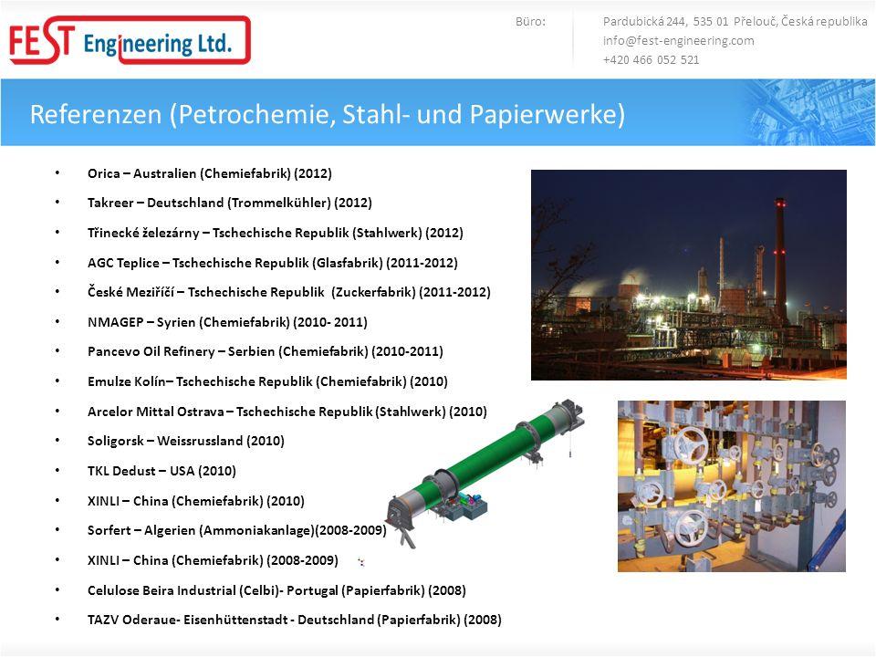 Referenzen (Petrochemie, Stahl- und Papierwerke)