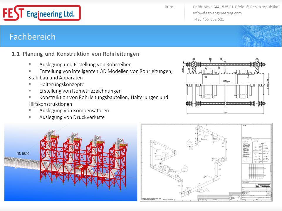 Fachbereich 1.1 Planung und Konstruktion von Rohrleitungen