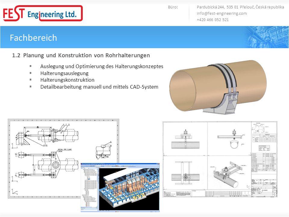 Fachbereich 1.2 Planung und Konstruktion von Rohrhalterungen