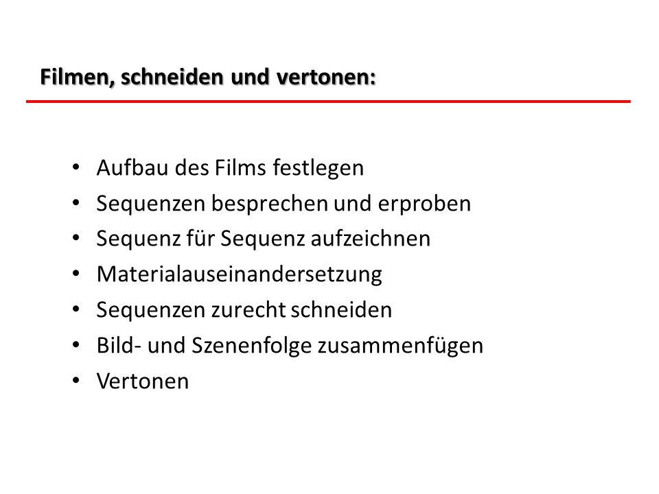 Filmen, schneiden und vertonen: