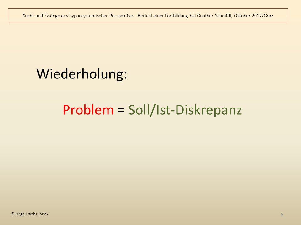 Problem = Soll/Ist-Diskrepanz