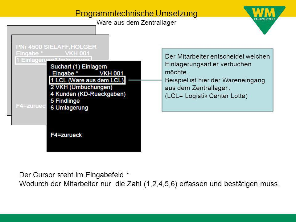 Programmtechnische Umsetzung