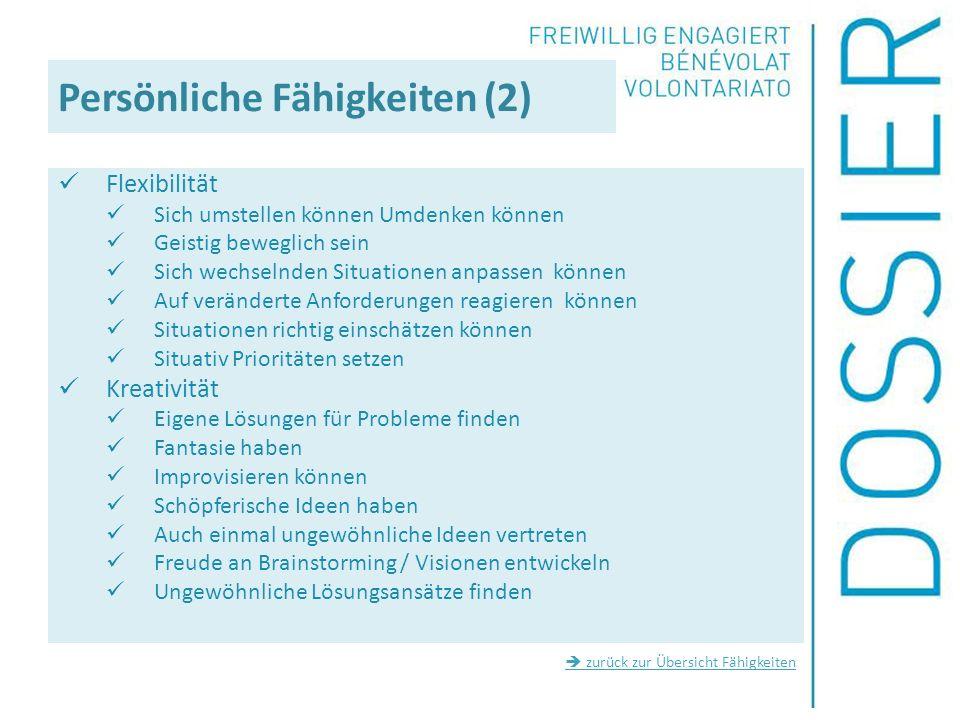 Persönliche Fähigkeiten (2)