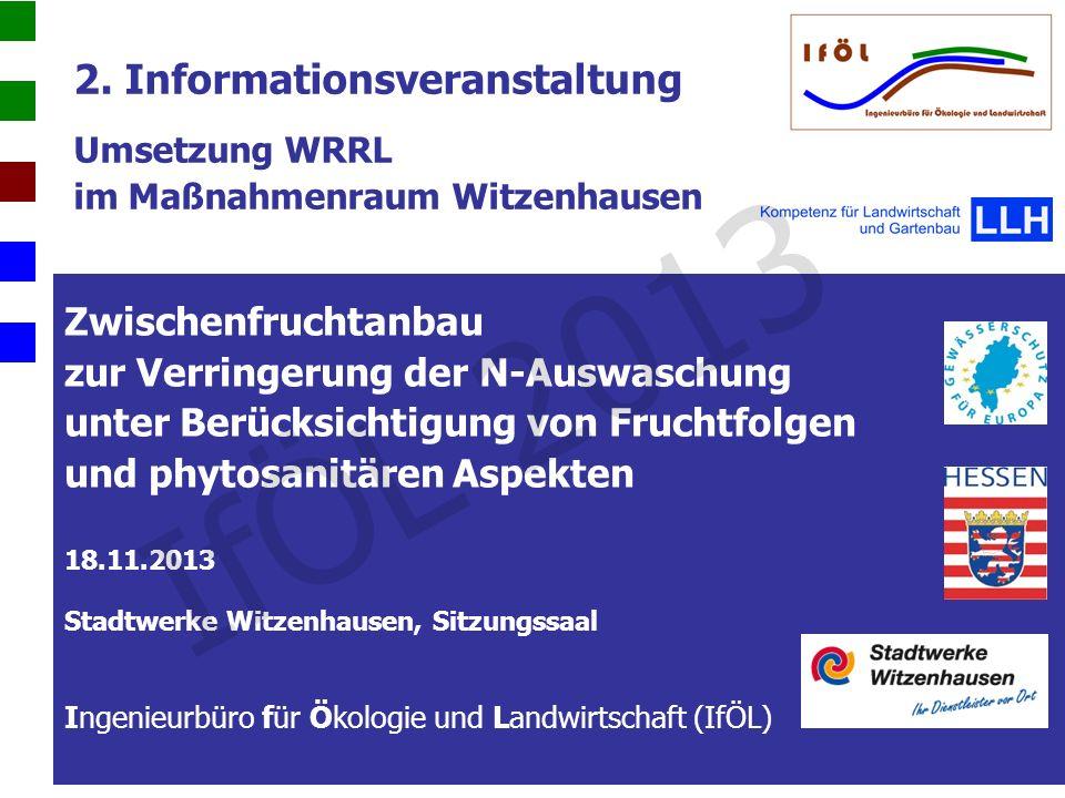 2. Informationsveranstaltung Umsetzung WRRL im Maßnahmenraum Witzenhausen