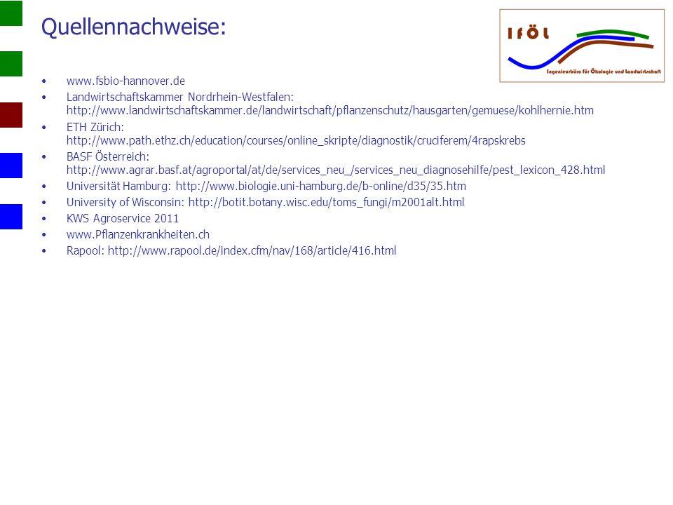 Quellennachweise: www.fsbio-hannover.de