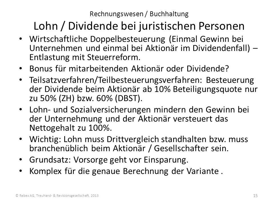 © Rebex AG, Treuhand- & Revisionsgesellschaft, 2013