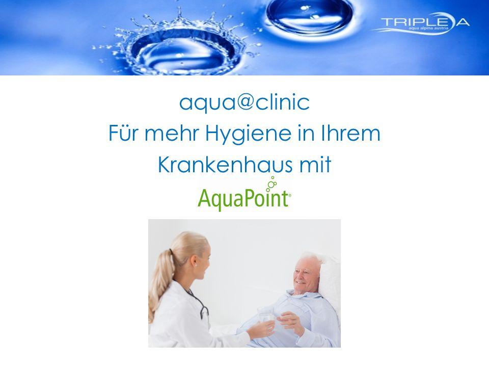 aqua@clinic Für mehr Hygiene in Ihrem Krankenhaus mit