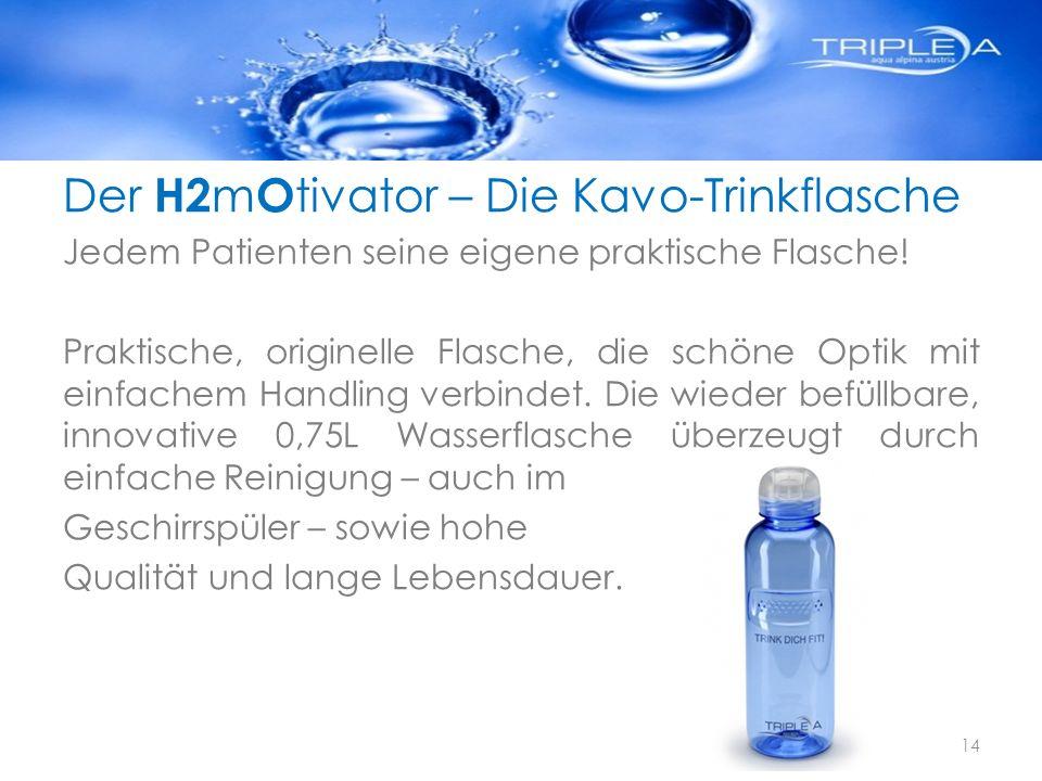 Der H2mOtivator – Die Kavo-Trinkflasche