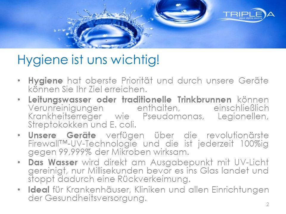 Hygiene ist uns wichtig!