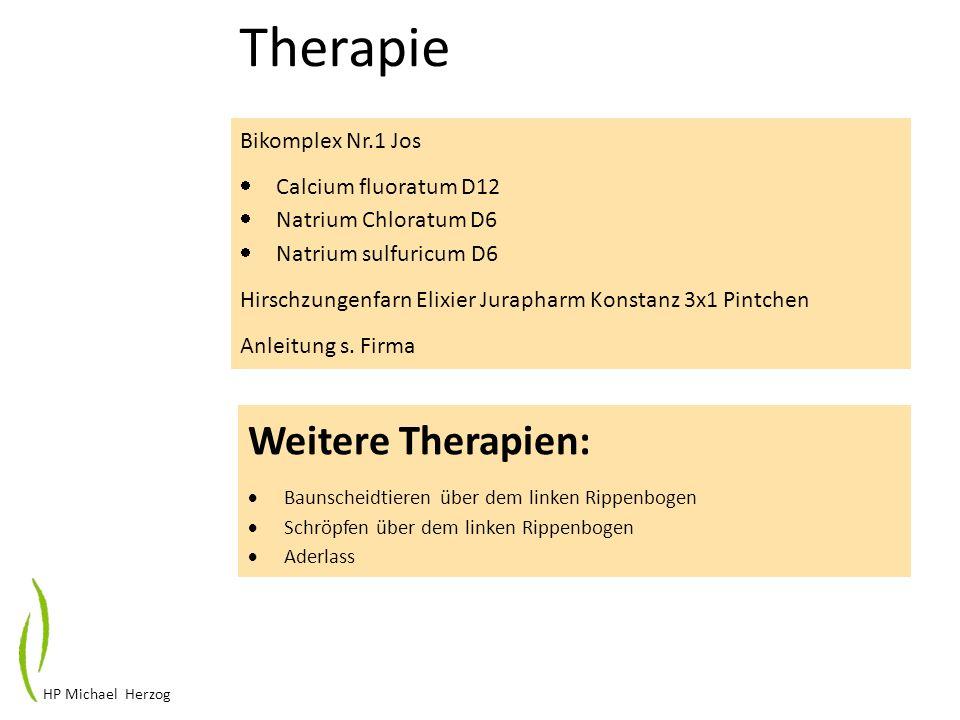 Therapie Weitere Therapien: Bikomplex Nr.1 Jos Calcium fluoratum D12