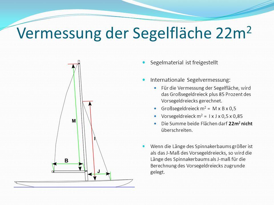Vermessung der Segelfläche 22m2