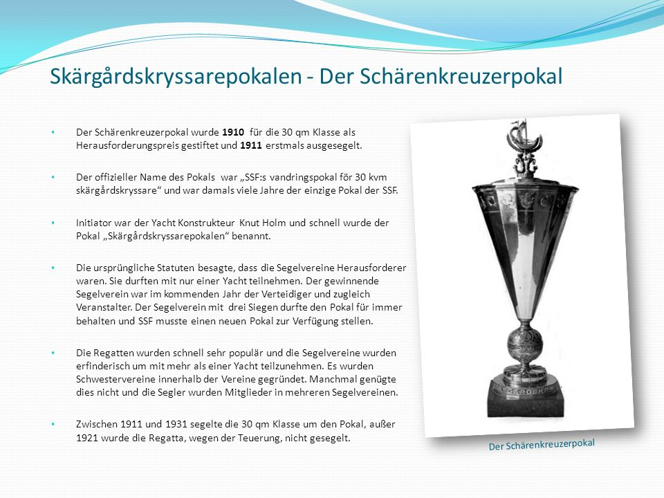 Skärgårdskryssarepokalen - Der Schärenkreuzerpokal