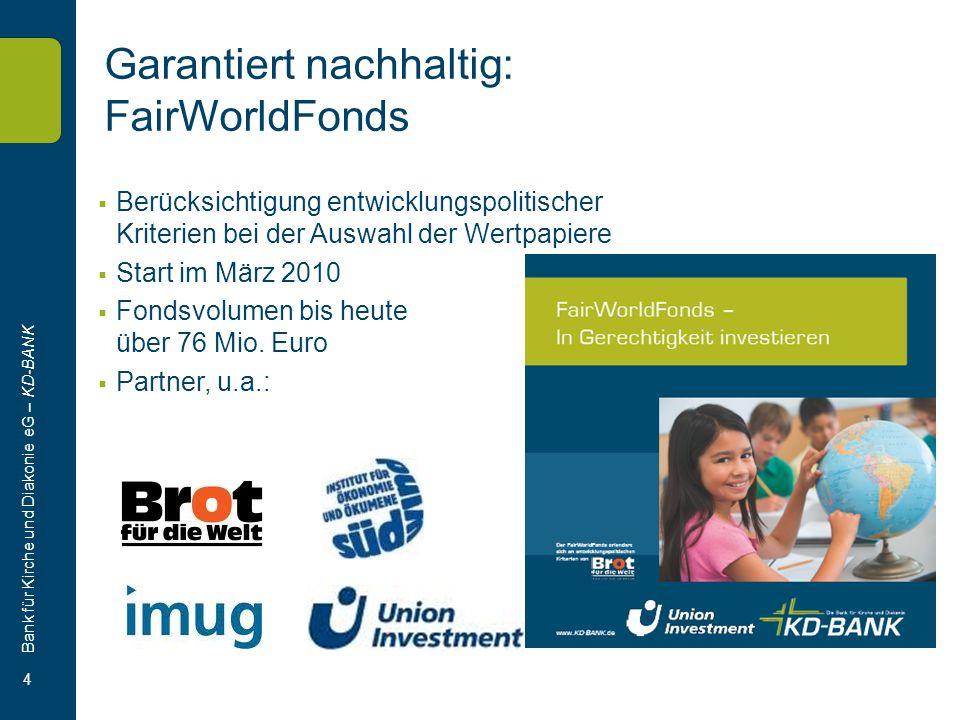 Garantiert nachhaltig: FairWorldFonds