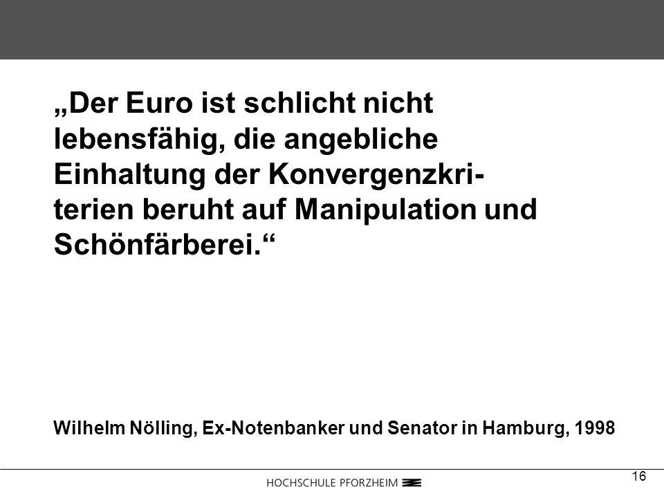 """""""Der Euro ist schlicht nicht lebensfähig, die angebliche"""