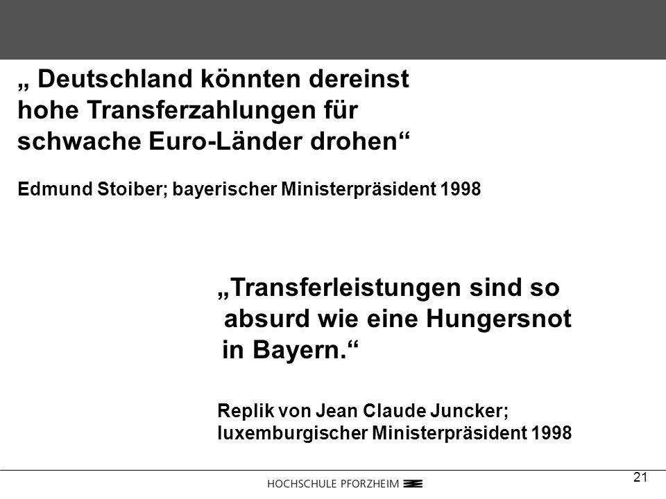 absurd wie eine Hungersnot in Bayern.