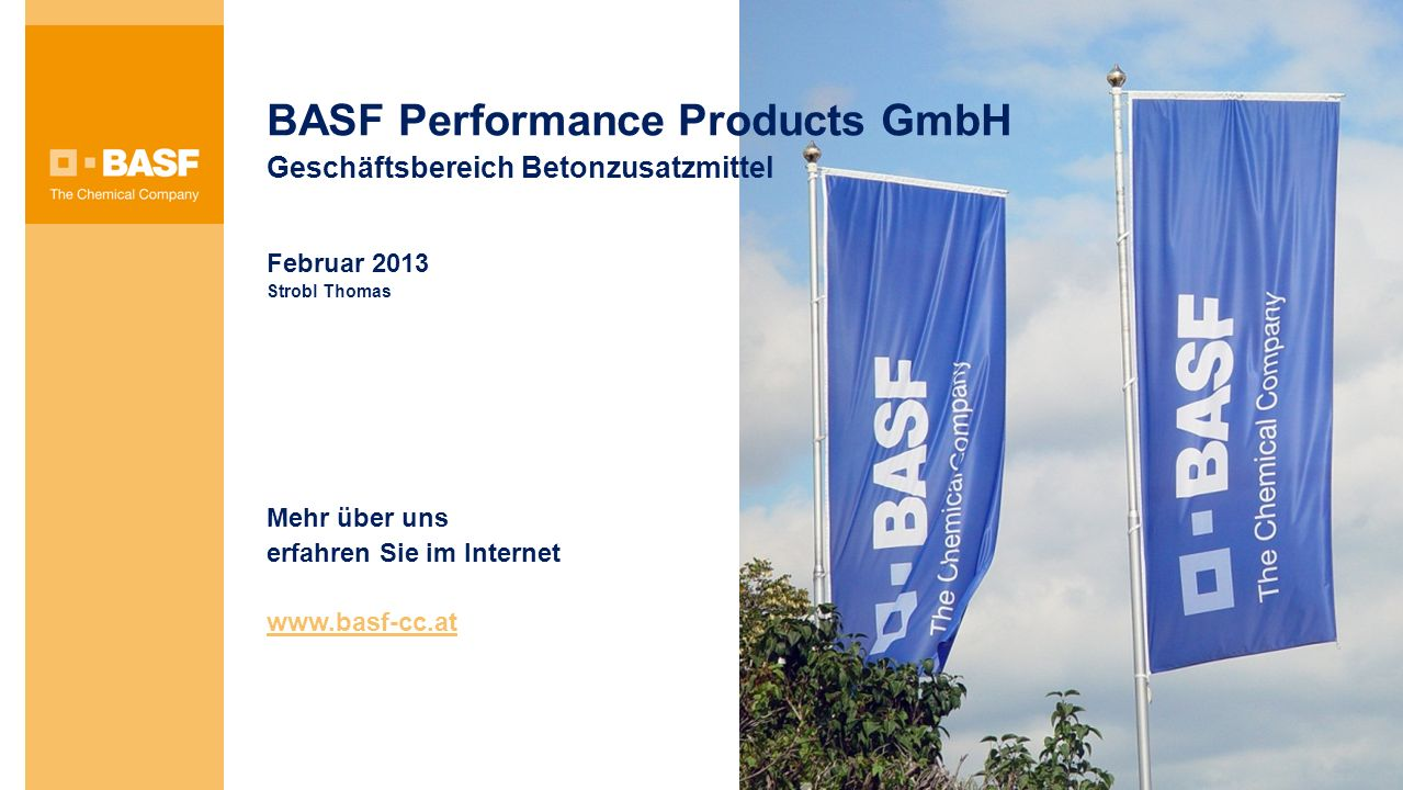 BASF Performance Products GmbH