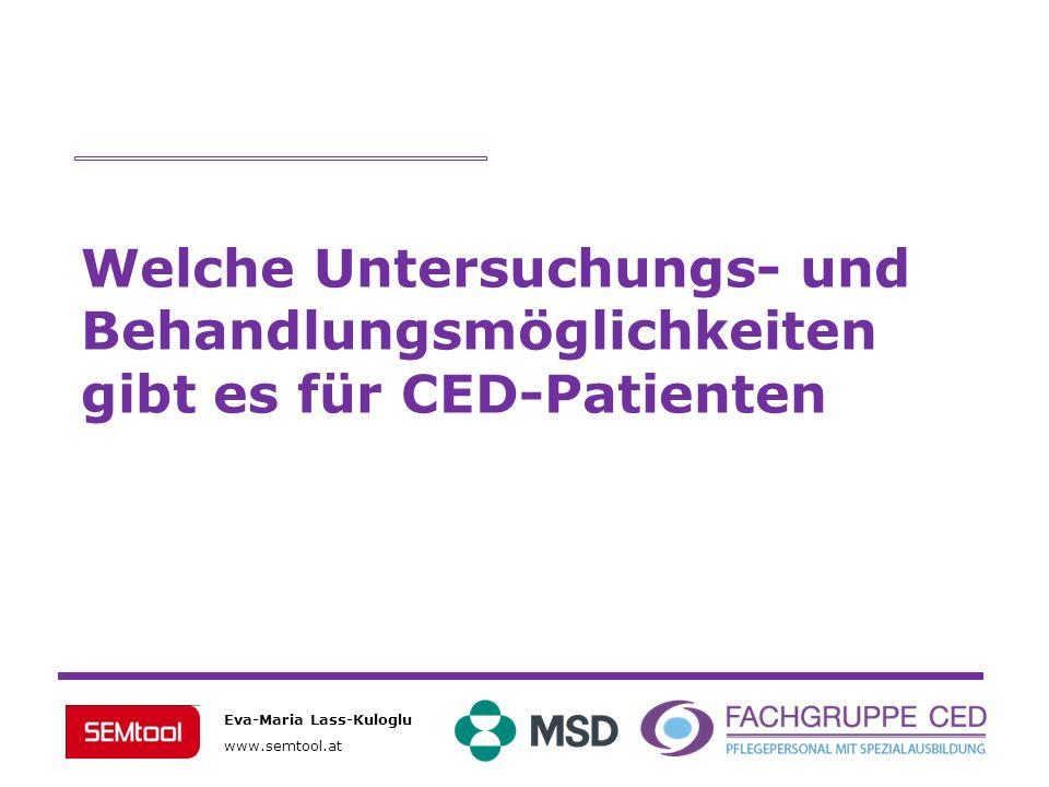 Welche Untersuchungs- und Behandlungsmöglichkeiten gibt es für CED-Patienten