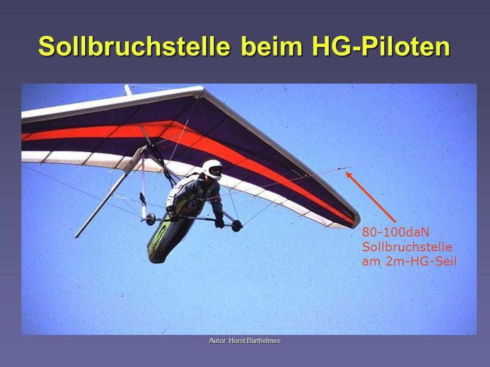 Sollbruchstelle beim HG-Piloten