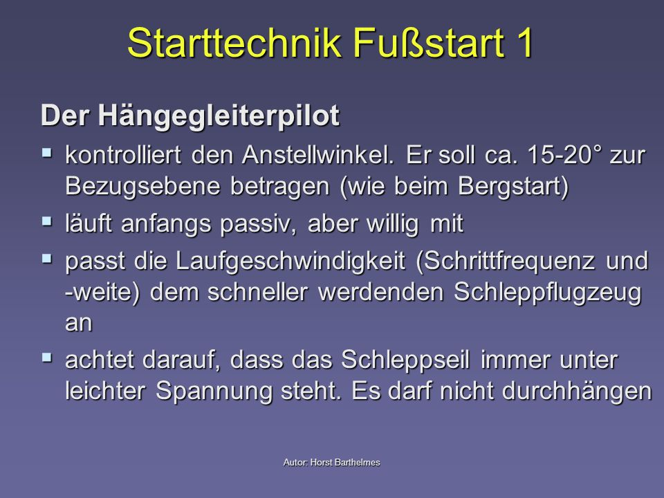 Starttechnik Fußstart 1