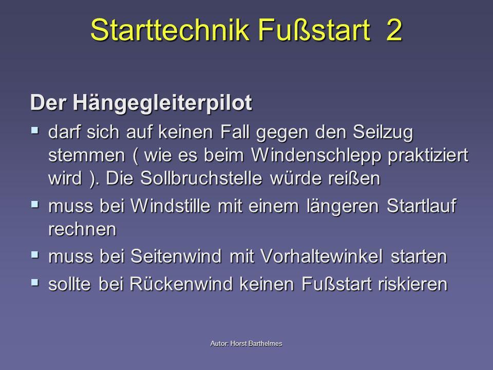 Starttechnik Fußstart 2