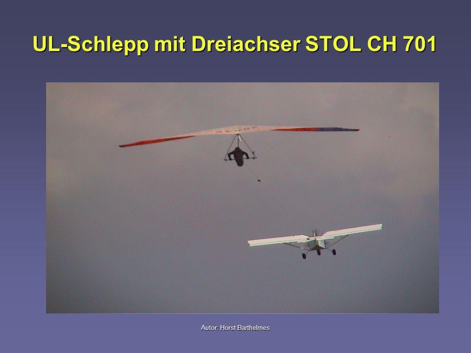 UL-Schlepp mit Dreiachser STOL CH 701