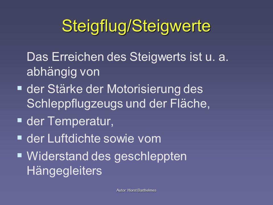 Steigflug/Steigwerte