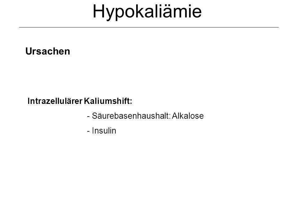Hypokaliämie Ursachen Intrazellulärer Kaliumshift: