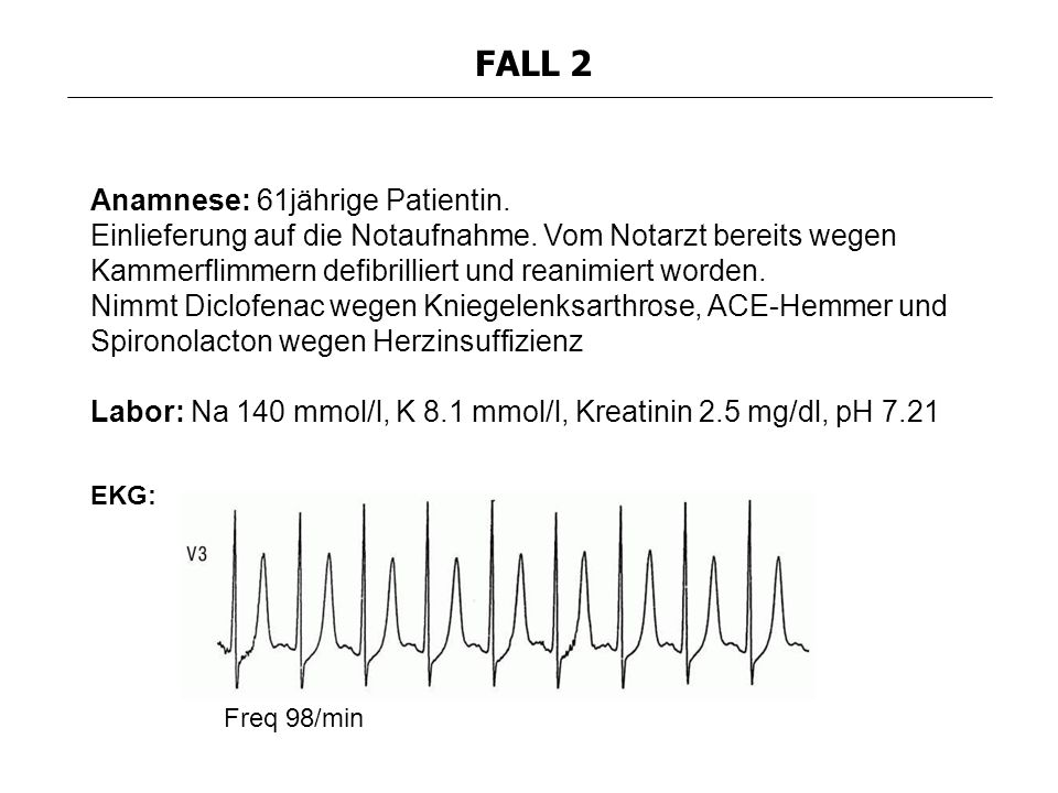 FALL 2 Anamnese: 61jährige Patientin.