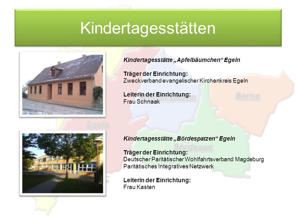 "Kindertagesstätten Kindertagesstätte ""Apfelbäumchen Egeln"