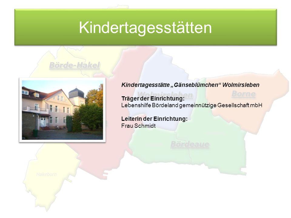 """Kindertagesstätten Kindertagesstätte """"Gänseblümchen Wolmirsleben"""