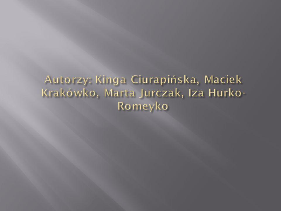 Autorzy: Kinga Ciurapińska, Maciek Krakówko, Marta Jurczak, Iza Hurko-Romeyko