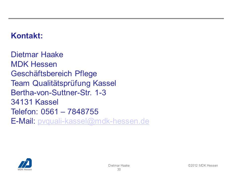 Geschäftsbereich Pflege Team Qualitätsprüfung Kassel