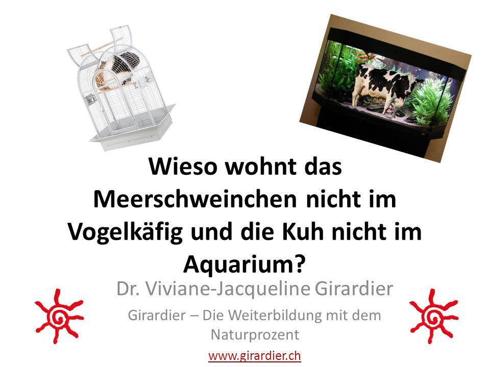 Wieso wohnt das Meerschweinchen nicht im Vogelkäfig und die Kuh nicht im Aquarium