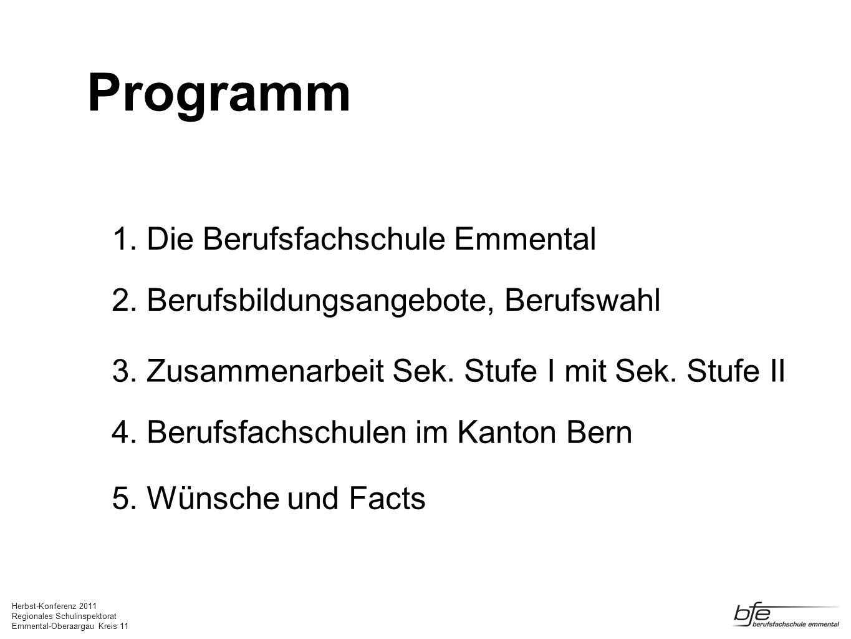Programm 1. Die Berufsfachschule Emmental