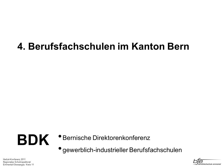 4. Berufsfachschulen im Kanton Bern