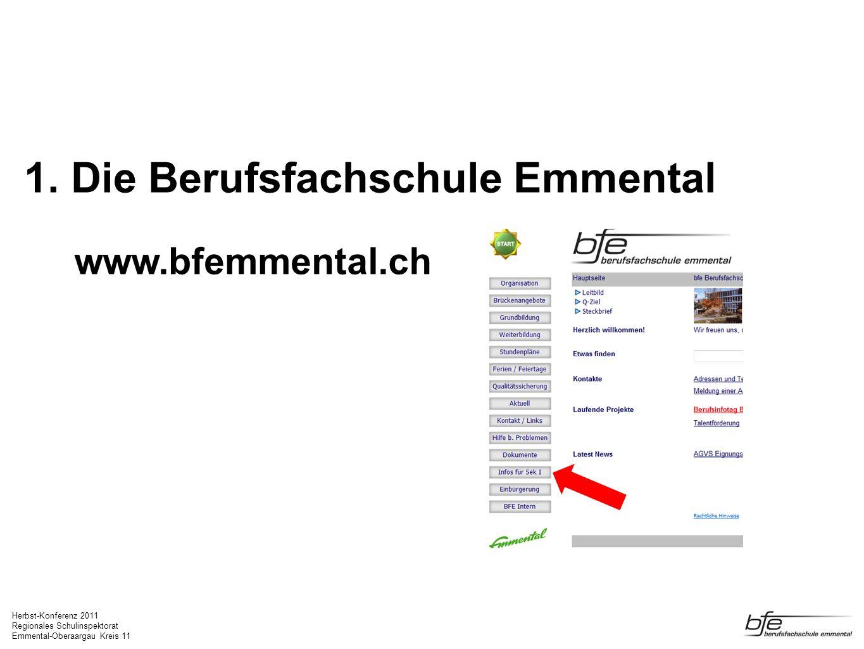 1. Die Berufsfachschule Emmental