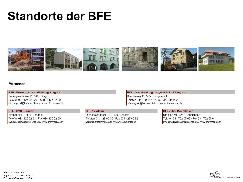 Standorte der BFE