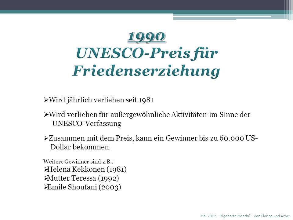 UNESCO-Preis für Friedenserziehung
